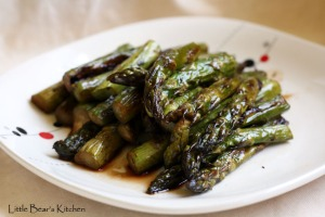 Roasted Asparagus with Balsamic Browned Butter1