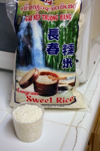 Measuring rice