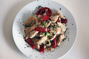 Plum wine chicken, top