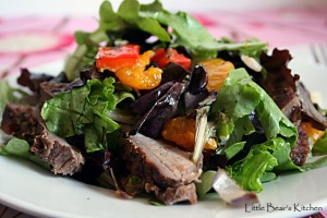 Grilled Steak Salad Close-up