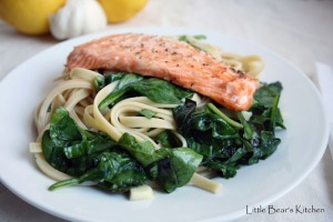 Fettuccine with Lemon, Basil, Salmon2