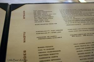 Alexander's menu