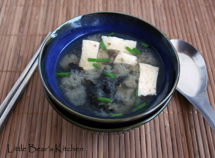 Miso soup, top
